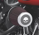 Screamin' Eagle Willie G Skull Heavy Breather Decorative Endcap - Chrome