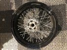 21 x 2.15 Front Laced Rim Black/Chrome