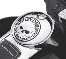 Willie G Skull Fuel Tank Console Door - Chrome